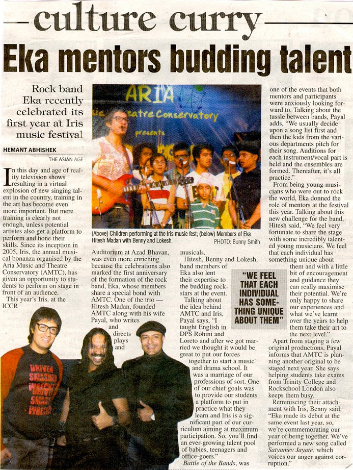 "EKA - ""EKA mentors budding talent"" The Asian Age"