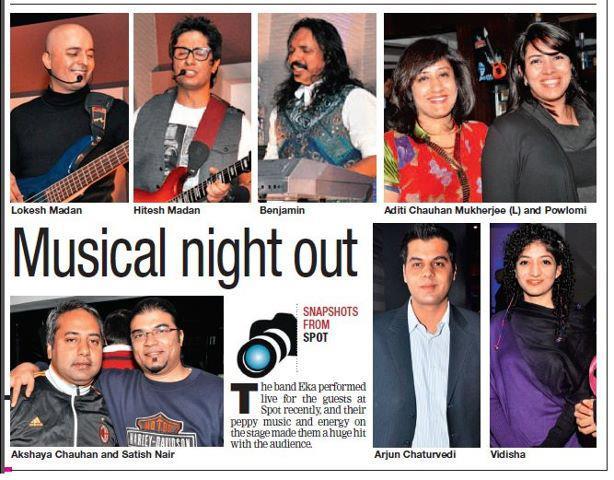 EKA - Delhi Times – EKA Live @ Spot Lounge Bar, Gurgaon