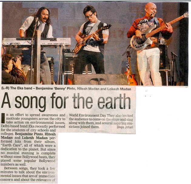 EKA - A Song for the earth – The Times of India, 7 June 2012