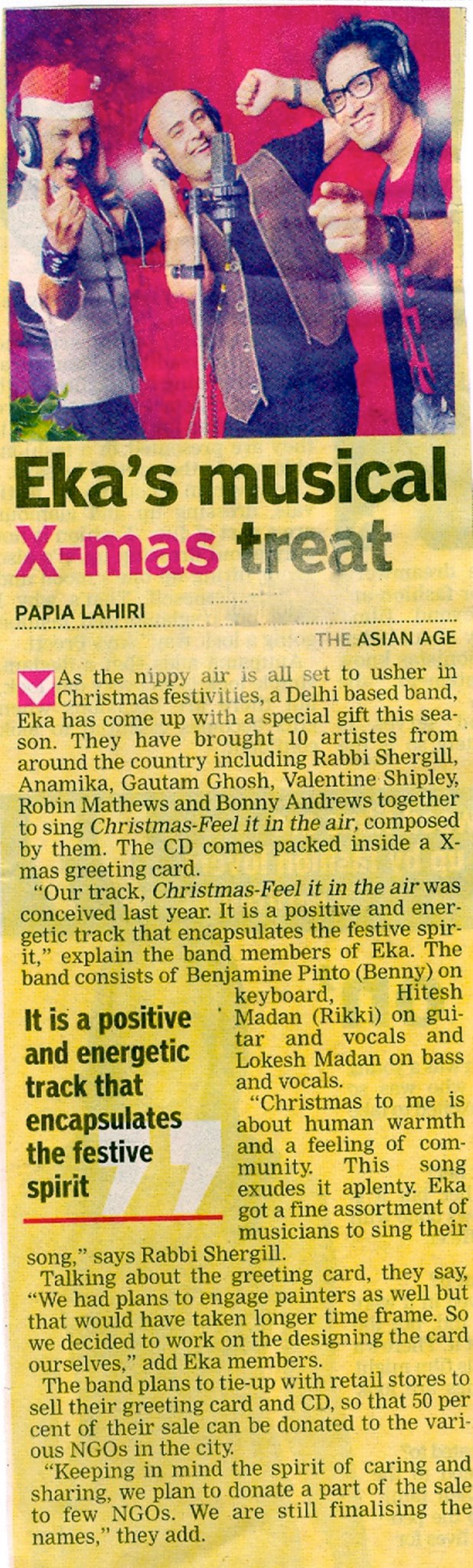EKA - Asian Age – Eka's Musical Xmas Treat