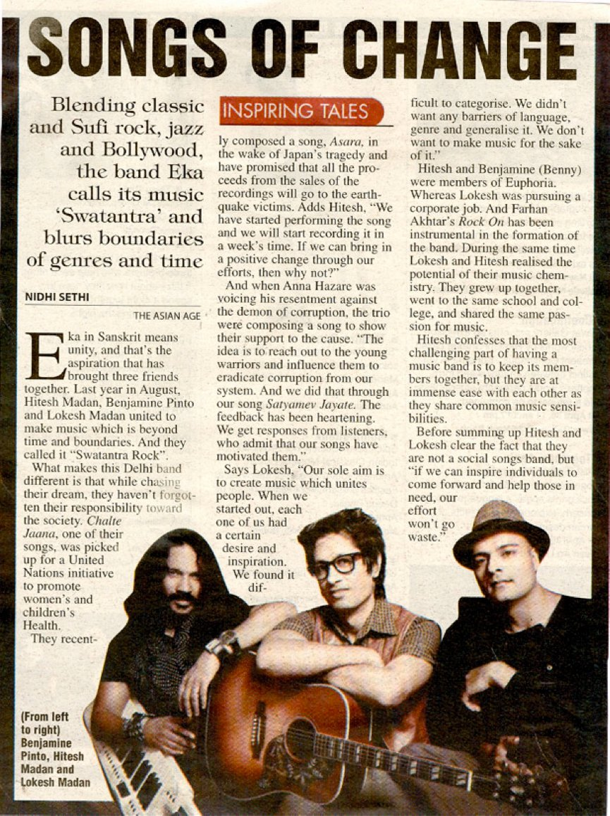 EKA - The Asian Age April 2011